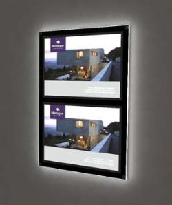 Wall mounted LED Colored Light Pockets